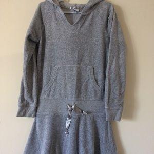 Girls Velour sweatshirt hoodie dress